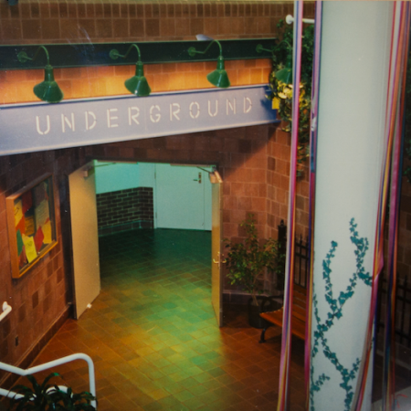 Old photo of the main entrance to the underground