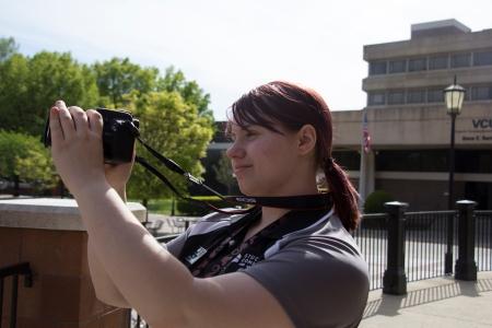 Hayley capturing video