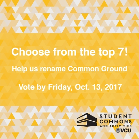 Voting for a new name for the former Common Ground area closed on October 13th 2017