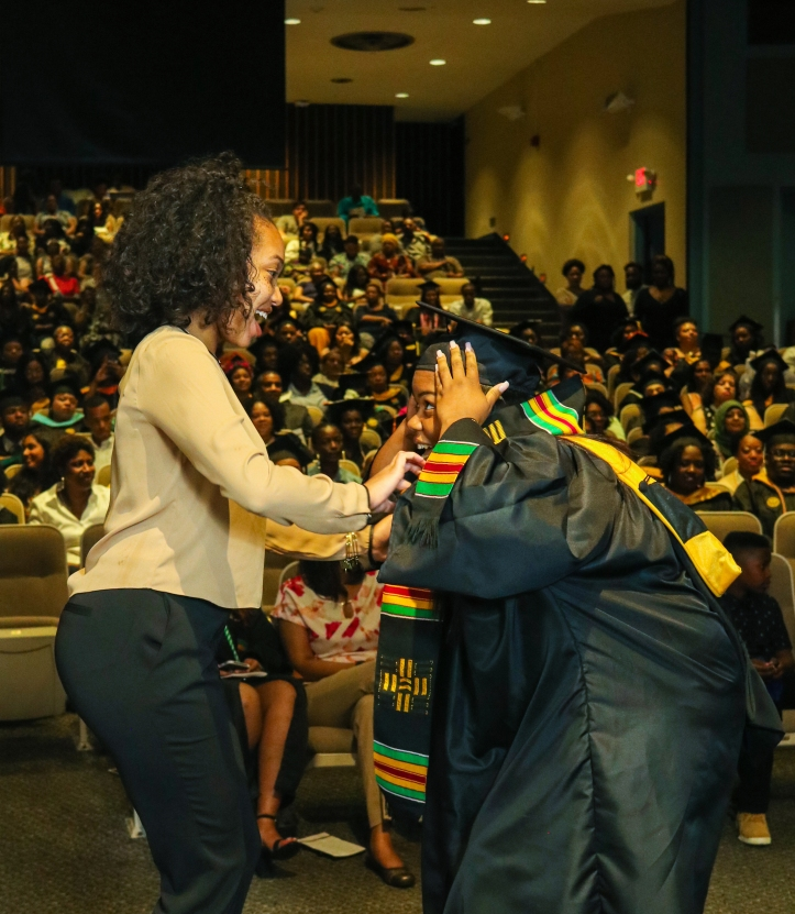 Graduate receives the Donning of the Kente stole