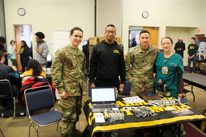 Students gathered at the Spring 2019 Student Organization Fair
