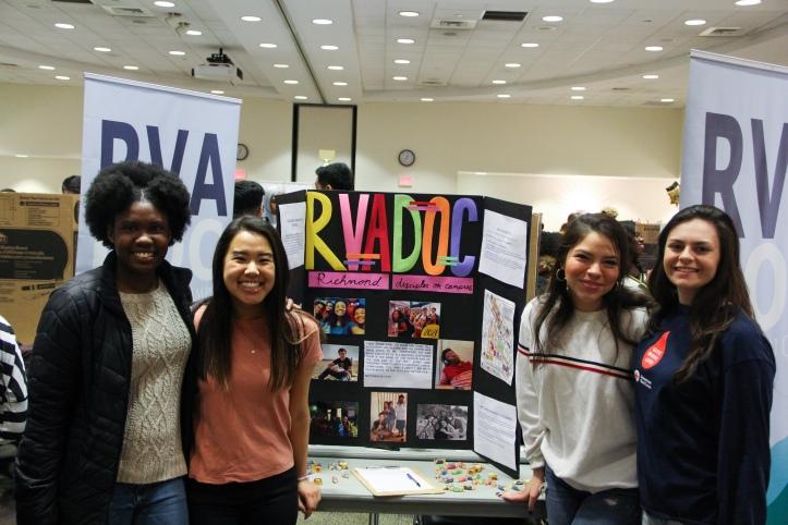 Student Organization members posing at The Fair