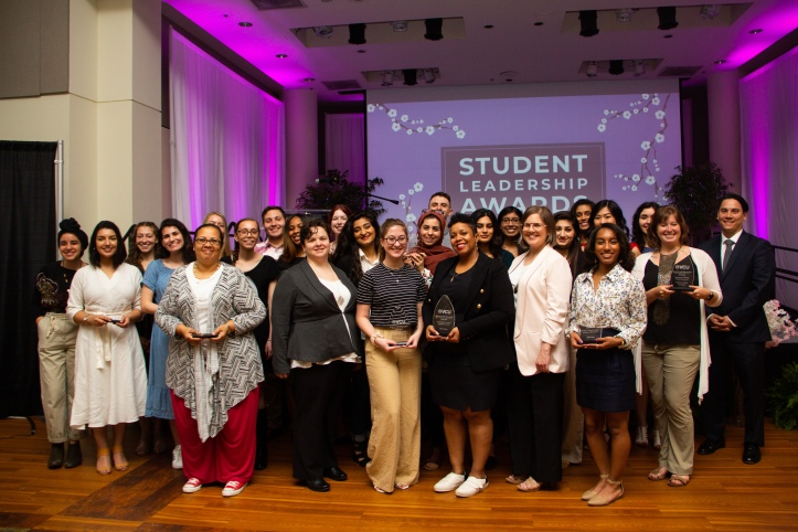 Group Photo of 2019 Student Leadership Award winners